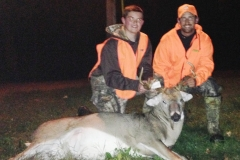 2014 Youth Hunter, Will Luecking and Keith Wolf with a nice Hamilton County buck.