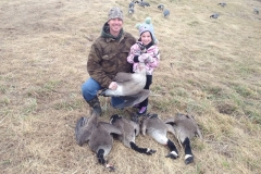Steve Gower and daughter, Reagan (age 7), on a goose hunt - 2019