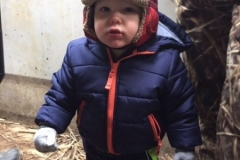 Charlie Raetz (17 months) - one of his first goose hunts!