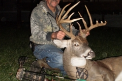 Keith Carson shot this buck on Nov. 7th. If his missing points were the same as the other side he would have grossed about 169.