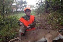 Hunter Morgan with his 1st deer!