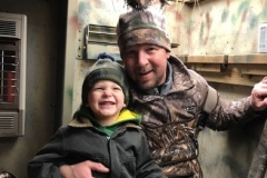 Steve Raetz and son, Charlie Raetz (age 4), carrying on a family tradition - 2019